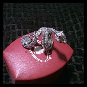 Lucky Brand Serpent Ring with Gemstones.